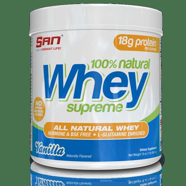100% Natural Whey Supreme SAN 454 грама