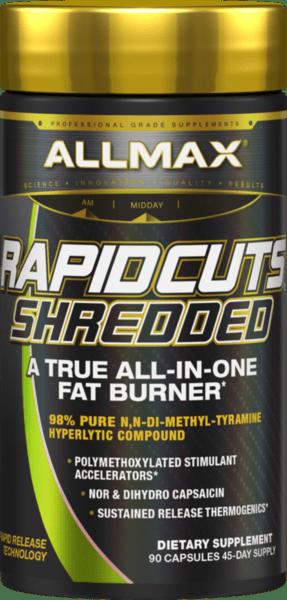Термогенен Фет Бърнър RapidCuts Shredded AllMax Nutrition 90 таблетки