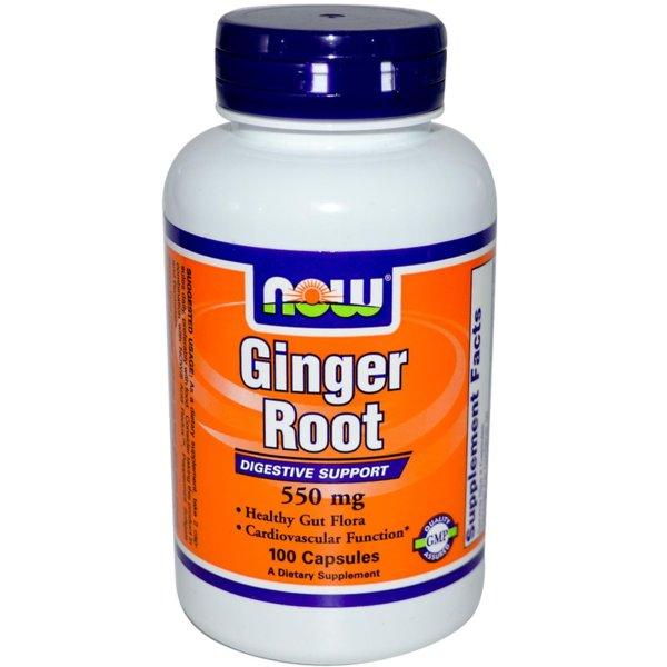 Ginger Root /Джинджифил/ NOW Foods 100 капсули