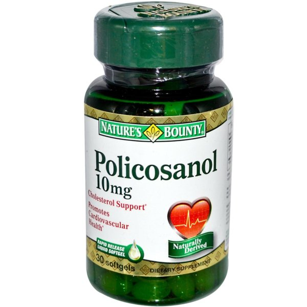Policosanol 10mg Natures Bounty 30 дражета
