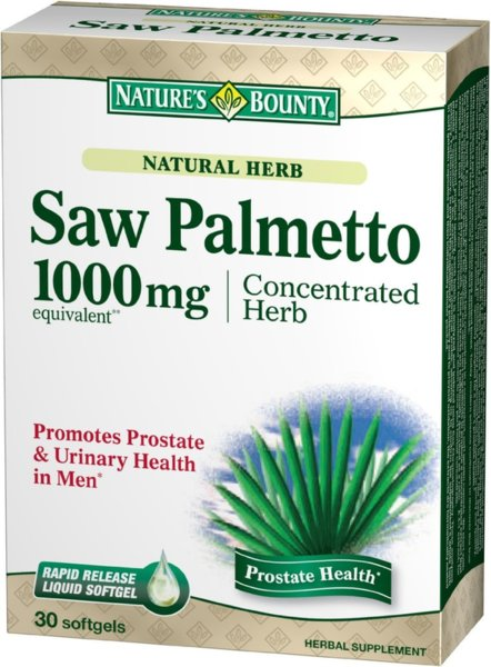 Natural Saw Palmetto 1000mg 30caps