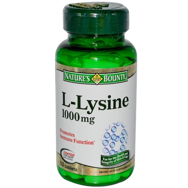 L-Lysine 1000mg Natures Bounty 60 таблетки