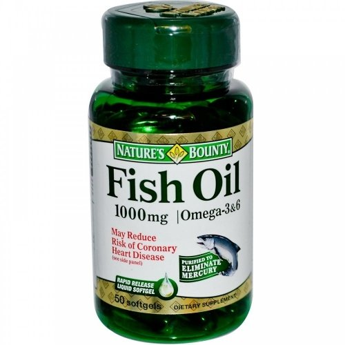 Fish Oil Рибено Масло 1000mg Natures Bounty 50 дражета