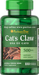 Cats Claw  Котешки Нокът Puritans Pride 100 капсули