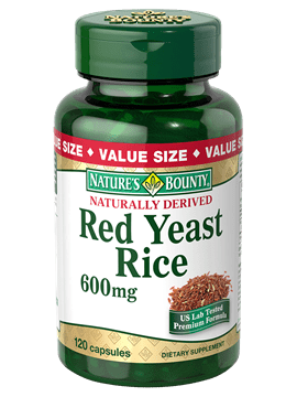 Red Yeast Rice Natures Bounty 60 капсули