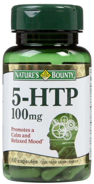 5-HTP 100mg Natures Bounty 60 капсули