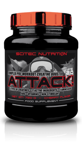 Attack 2.0 Scitec Nutrition 720 грама 72 дози