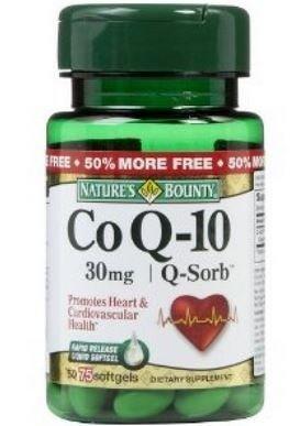 Q-Sorb CoQ10 30mg Natures Bounty 50 дражета