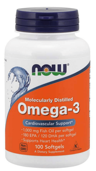 Omega 3 Рибено Масло 1000мг NOW Foods 100 дражета