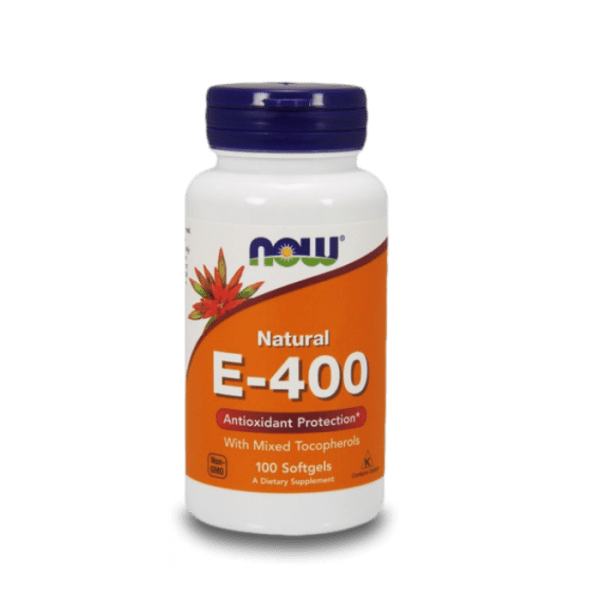 Витамин E-400 IU MT NOW Foods 100 дражета