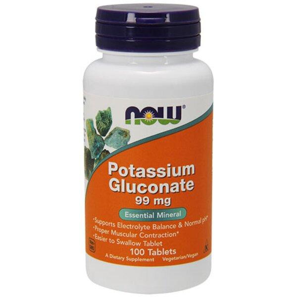 Potassium Gluconate Калиев Глюконат NOW Foods 100 таблетки