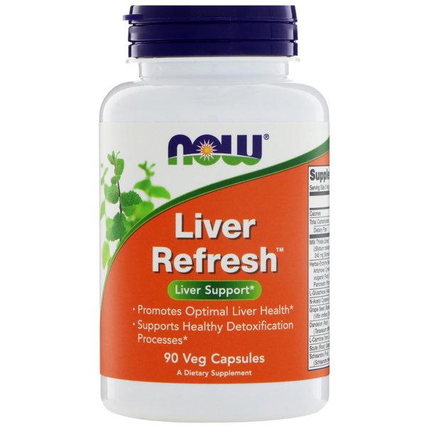 Liver Refresh Detoxifier & Regenerator NOW Foods 90/180 капсули