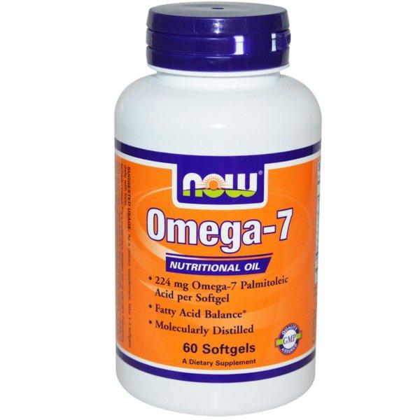 Omega 7 224мг NOW Foods 60 дражета