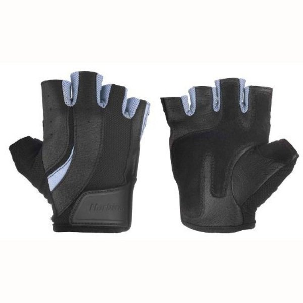 Женски ръкавици за фитнес Pro черно и синьо Harbinger