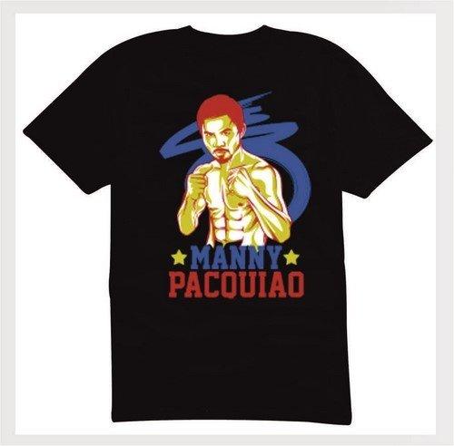 Боксова тениска Manny Pacquiao Черна