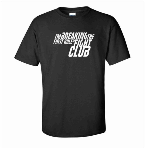 Боксова тениска Breaking the rule of Fight Club