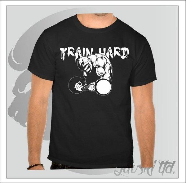 Фитнес тениска Train Hard 2