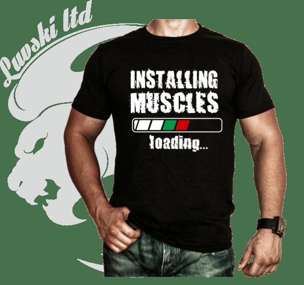 Фитнес Тениска Installig Muscles