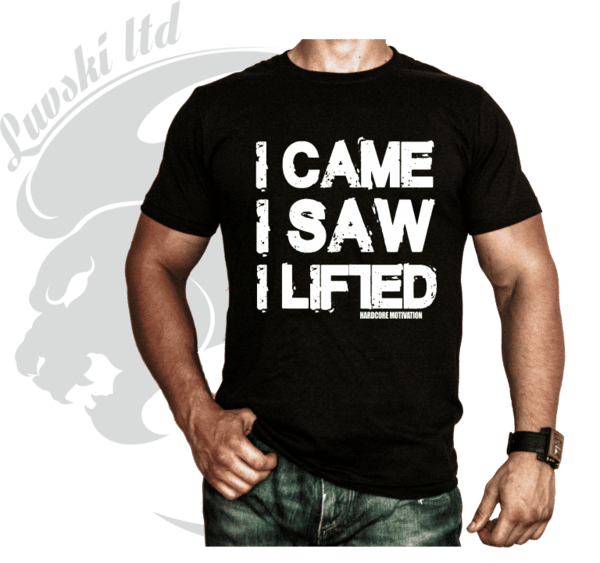 Фитнес Тениска I Came I Saw I Lifted