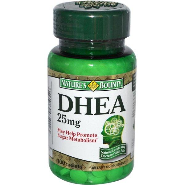 DHEA 25mg Natures Bounty 100 таблетки