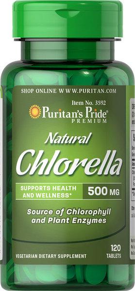 Natural Chlorella Puritans Pride 120 таблетки