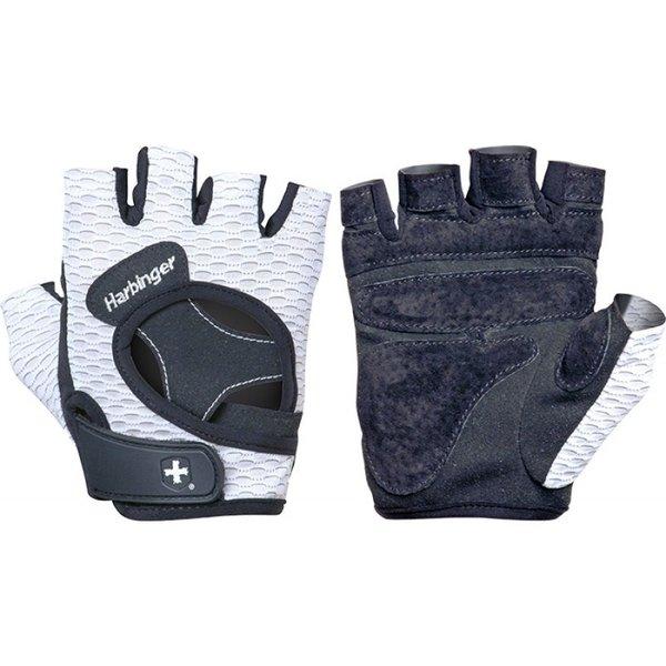 Женски ръкавици за фитнес FlexFit Бяло-Черно Harbinger