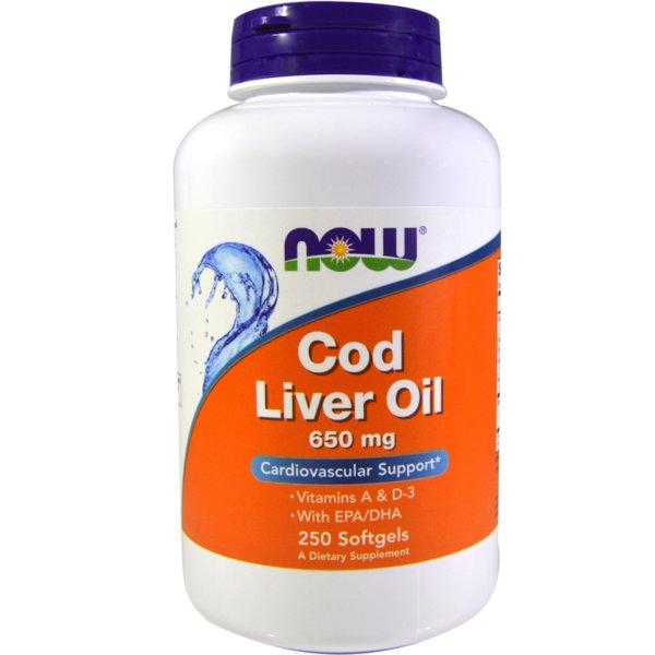 Cod Liver Oil /Рибено Масло от Черен Дроб на Треска/ NOW Foods 250 дражета