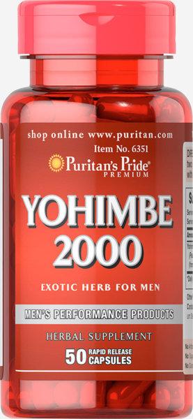 Йохимбе 2000 Puritans Pride 50 капсули