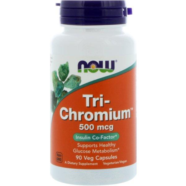 Tri-Chromium + Cinnamon /Хром + Канела/ NOW Foods 90 капсули