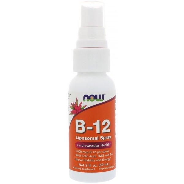 Vitamin B 12 Liposomal Sprey NOW Foods 59ml