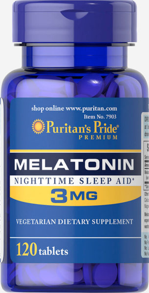 Melatonin 3mg Puritans Pride 120 таблетки