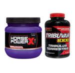 Стак за сила, мускулна маса и висок тестостерон | Азотен Бустер + Трибулус Терестрис