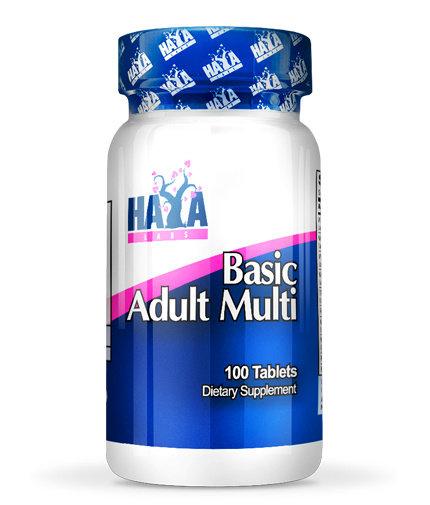 Мултивитамини за мъже и жени Basic Adult HAYA 100 таблетки