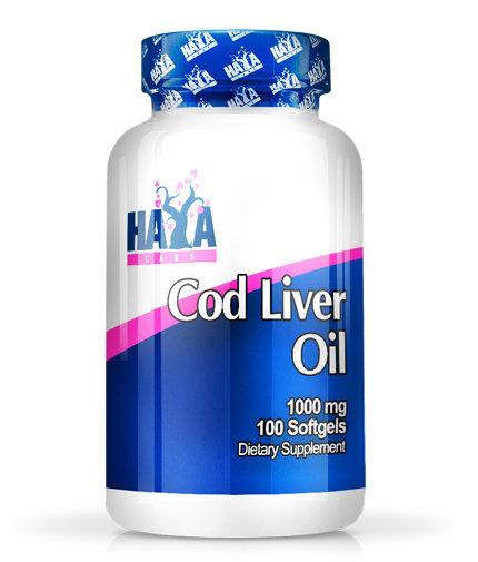 Рибено масло от черен дроб на треска Cod Liver Oil HAYA 100 дражета
