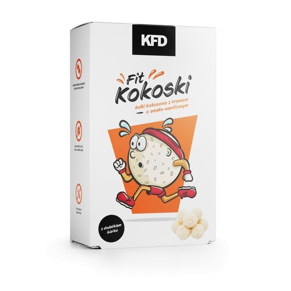 Кокосови бонбони с протеин и ванилия KFD 80 грама
