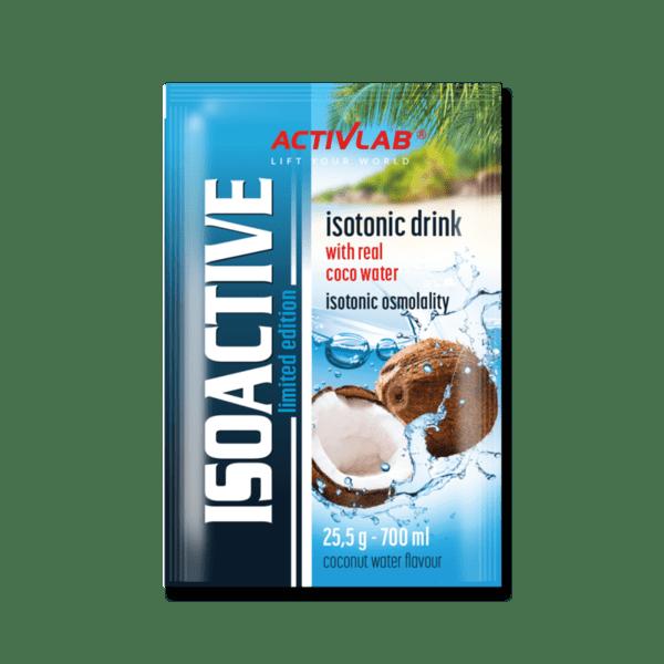 Изотонична напитка с въглехидрати, витамини и минерали ISOACTIVE ActivLab 20 сашета