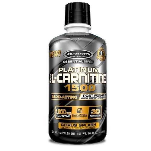 Течен Л-Карнитин Platinum 100% L-Carnitine 1500 MuscleTech 473ml