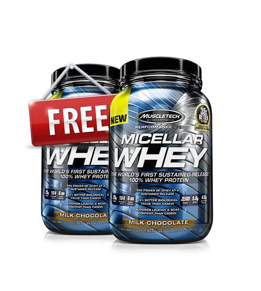 1 + 1 FREE Суроватъчен Протеин MICELLAR WHEY MuscleTech 925 грама
