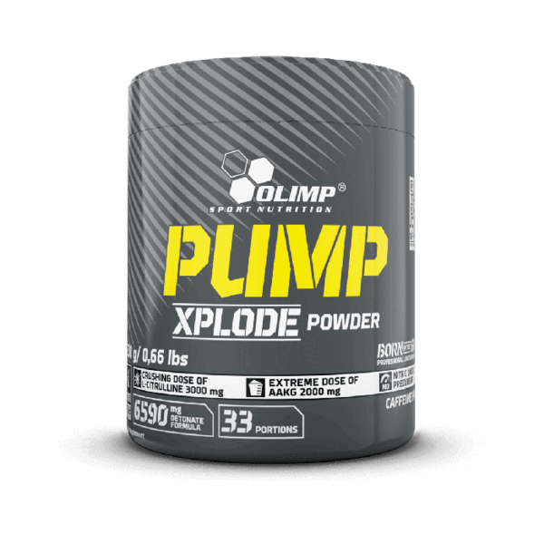 Азотен Бустер Без Кофеин Pump Xplode Olimp 300 грама 33 дози