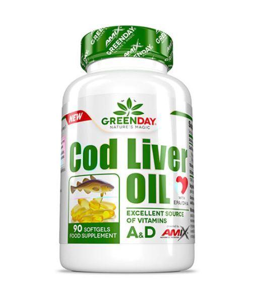 Рибено Масло от Черен Дроб на Треска Greenday Cod Liver Oil AMIX 90 дражета