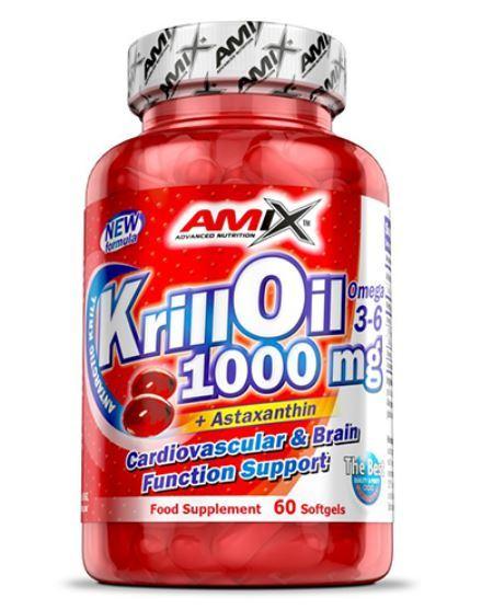 Омега 3 Масло от Крил 1000 mg AMIX 60 дражета