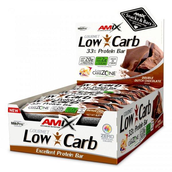 Протеинов Бар Low-Carb 33% BOX AMIX 15 x 60 грама
