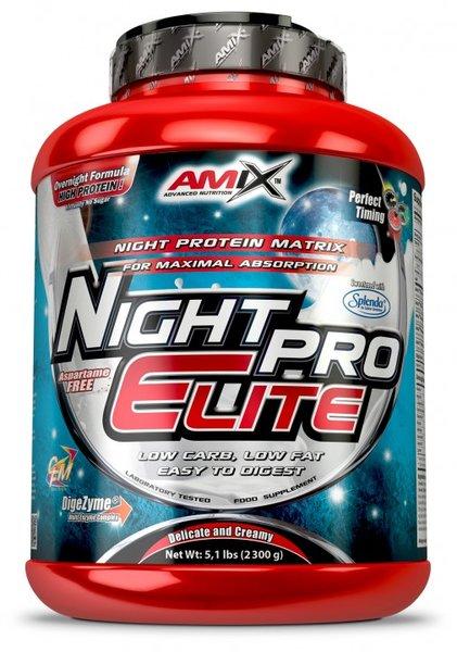 Бавноусвоим Протеин NightPro Elite AMIX 1000 грама