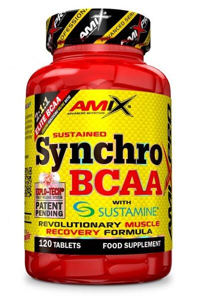BCAA + L-Аланил, L-Глутамин Synchro BCAA+Sustamine AMIX 120 таблетки