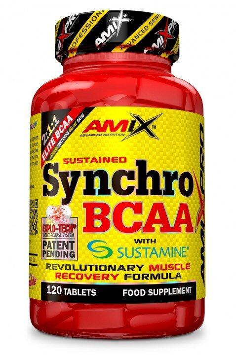 BCAA +L-Аланил, L-Глутамин Synchro BCAA+Sustamine AMIX 120 таблетки