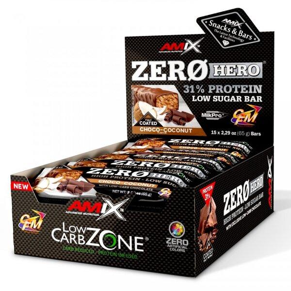 Протеинов Бар ZeroHero AMIX 15 x 60 грама