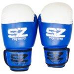 Боксови Ръкавици Gel X Lite Изк/Ест. Кожа SZ Fighters Синьо с бяло