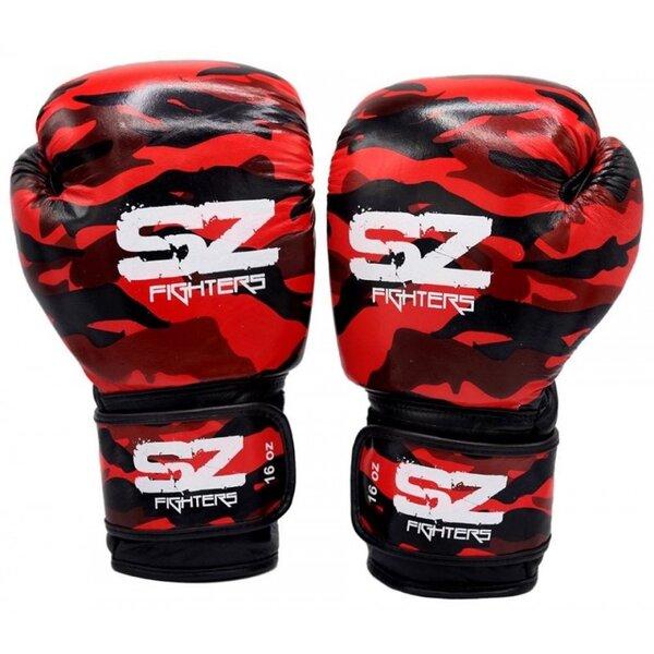 Боксови Ръкавици Ест. Кожа SZ Fighters CAMO RED