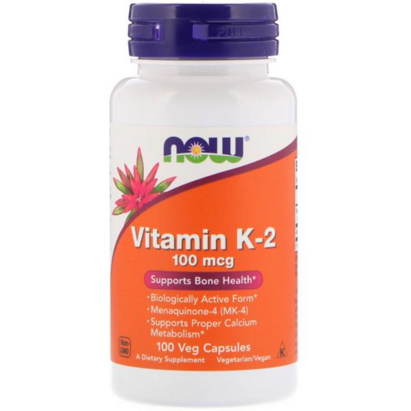 Витамин K-2 MK-4 NOW Foods 100 веган капсули