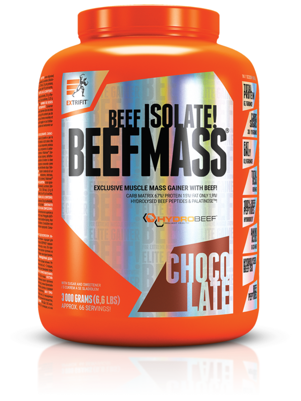 Гейнър за маса BeefMass EXTRAFIT 1500 грама-Copy